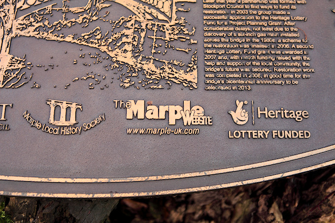 The Marple Website logo cast in bronze
