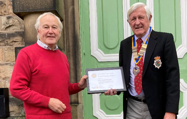 Noel Pollard has been awarded a Paul Harris Fellowship for his length of service and work within Rotary.