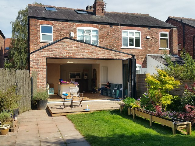 Home extension by GT Landscapes and Construction