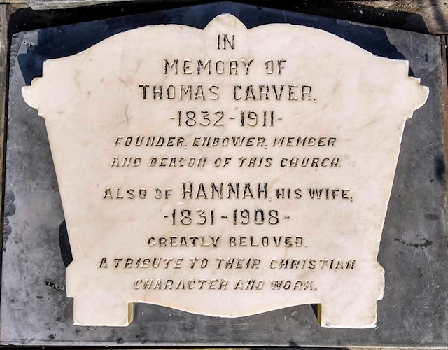 The Carver plaque after cleaning