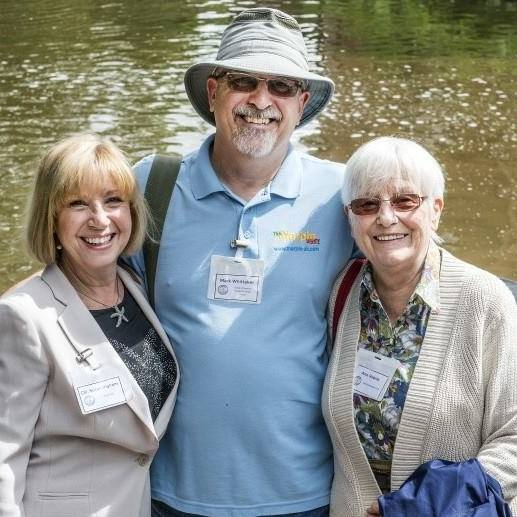 Mark Whittaker with Cllr Sue Ingham and Ann Hearle