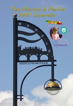 Marple Promotions logo on the lamposts on Stockport Road