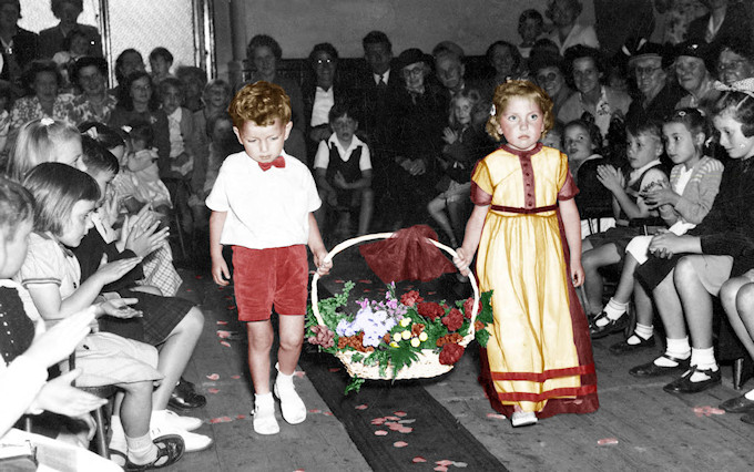 Rose Queen ceremony in The Albert Schools