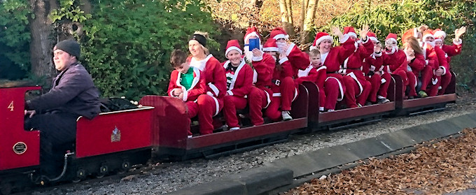Santa Dashers on the Dragon Railway