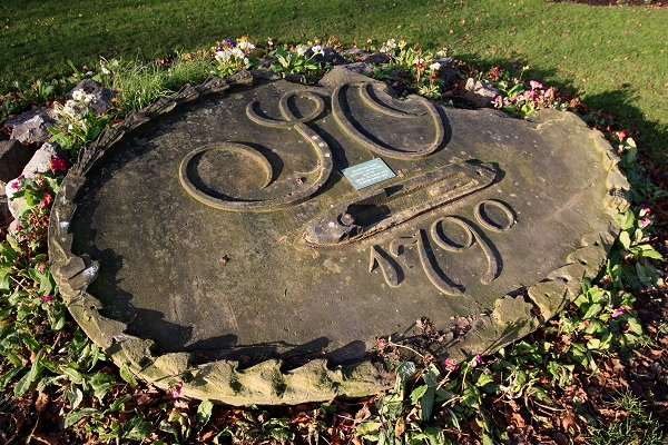 The Shuttle Stone in Marple Memorial Park